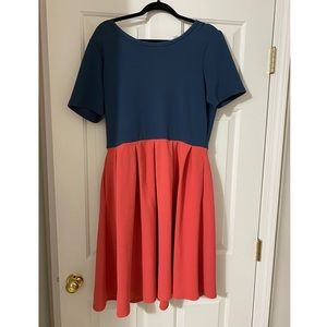 Lularoe 2XL Amelia Colorblock Dress
